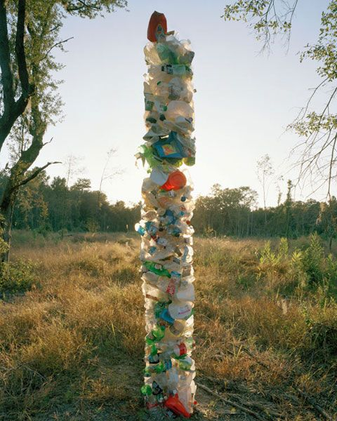 Plastic Totem, 2010 by David Welch.