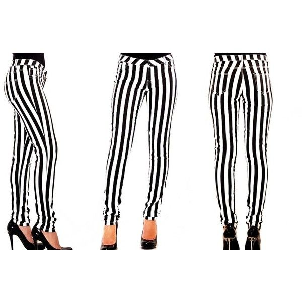 Women's Black and White Striped Pants (16 CAD) ❤ liked on Polyvore featuring pants, black white striped pants, black and white trousers, black white pants, black and white stripe pants and black and white pants