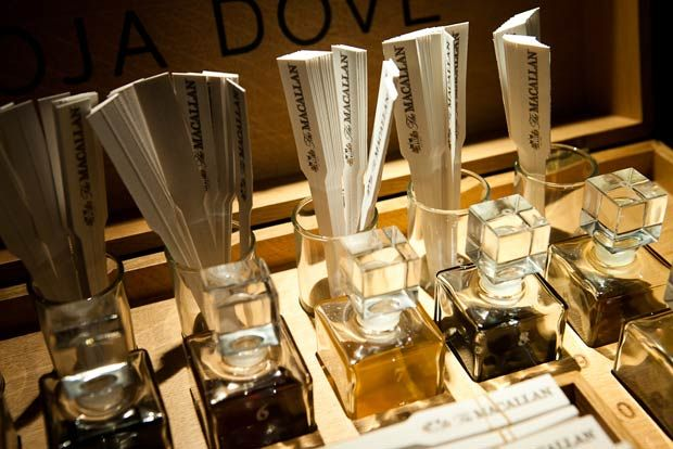 The Macallan and Roja Dove Sensory Experience takes people through the spectrum of scent, educating the nose in common whisky notes. It's meant to help people approach the whisky palate without the immediate—and often overpowering—alcoholic sensation so that later on, tasting the whiskey may bring out characteristics that may otherwise have been missed.