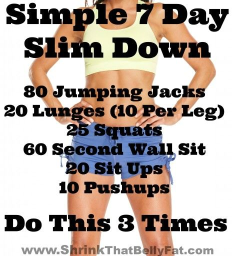 Simple 7 day slim down challenge