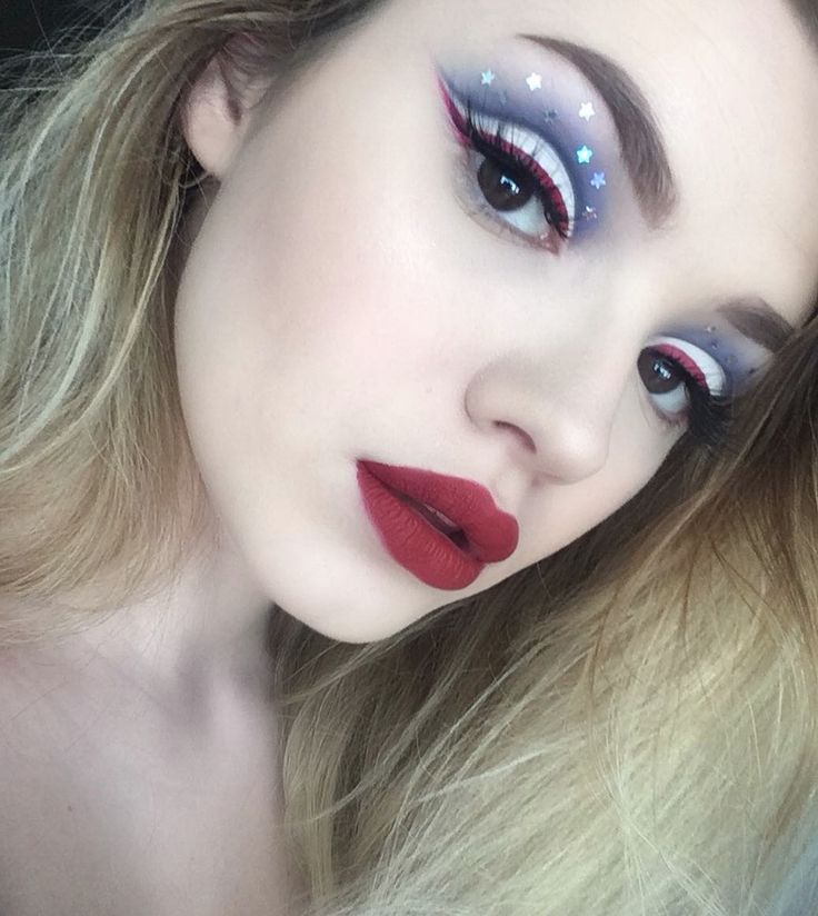 The best 4th of July makeup look ever!