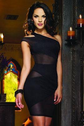 black club dress, tight dresses, tight black dress, one shoulder dress, discount clubwear