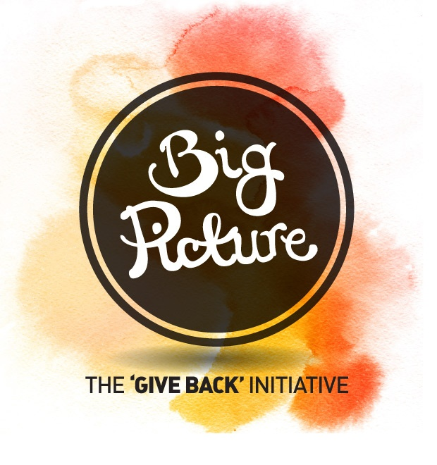 Big Picture - The 'Give Back' Initiative.    Founded by Quisk Design in 2012. Assisting a South Australian charity, not-for-profit or volunteer organisation, annually, with gratis design, print and video services up to the value of $10,000.