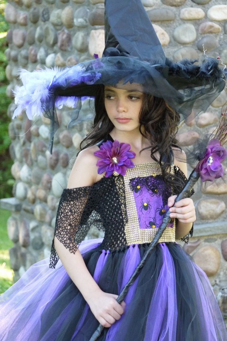 Wicked Witch costume, witch tutu dress,hocus pocus dress, black and purple  witch costume tutu dress,witch feather dress, Oz witch by TheMuseCreations on Etsy