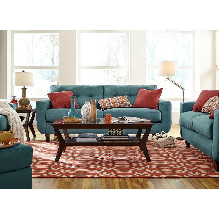 West village sofa blue pinterest stitching plush for Plush living room furniture