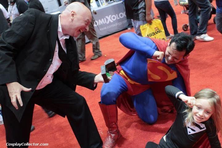 Lex Luthor, Superman, and Dark Supergirl - C2E2 2012 At last! Lex Luthor has his revenge!