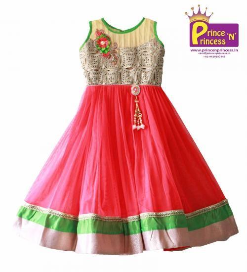Kids / GirlsCute Long gown .. www.princenprincess.in .. #long #gown #party #frock #party #girls #online #wear #birthday