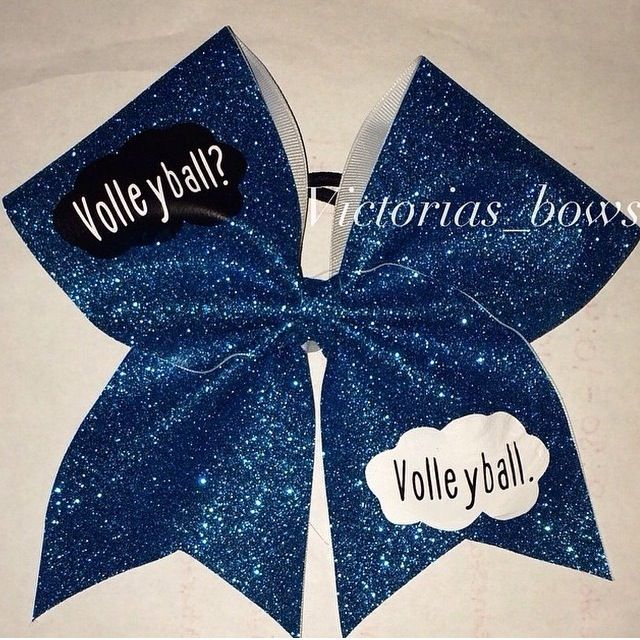 Fault in our stars volleyball bows!! WANT!!