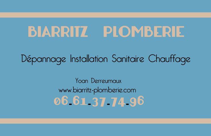 Plombier Chauffagiste sur Biarritz, réalise des Dépannages et des installations dans le secteur du BAB.