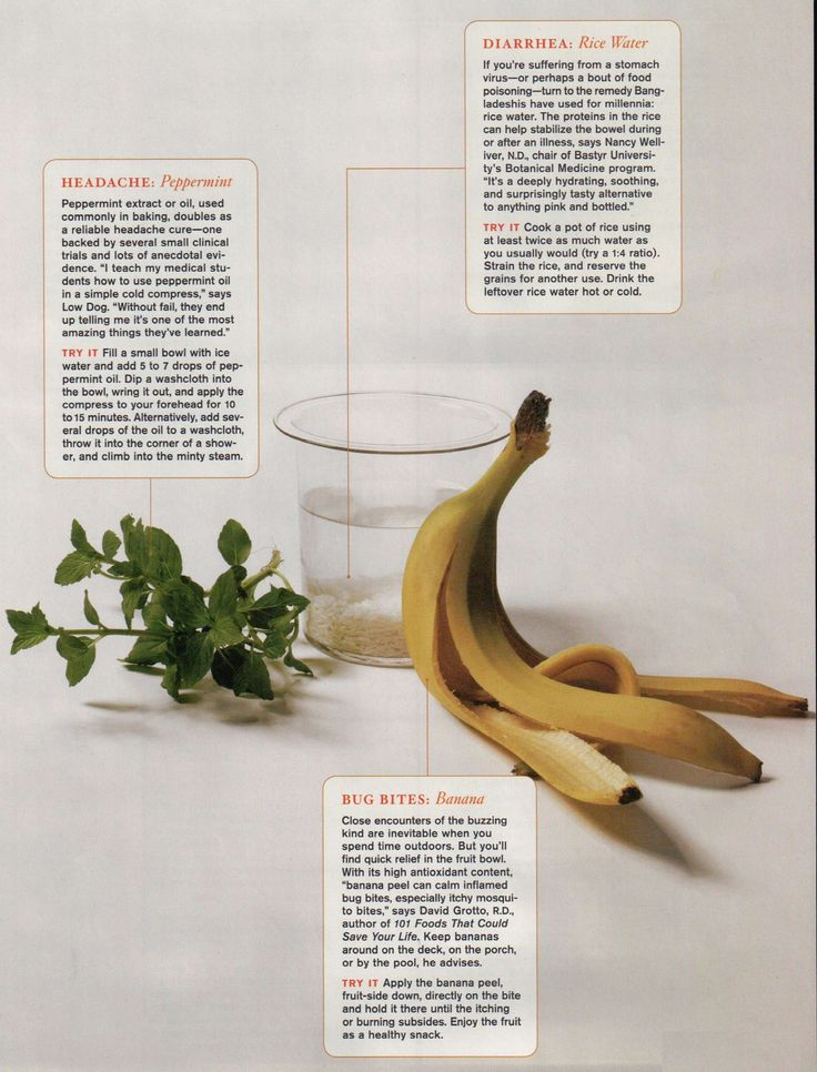 Natural Remedies: Headaches, Diarrhea, Bug Bites