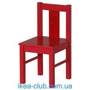 ИКЕА, IKEA, КРИТТЕР, 801.536.97, Детский стул, красный