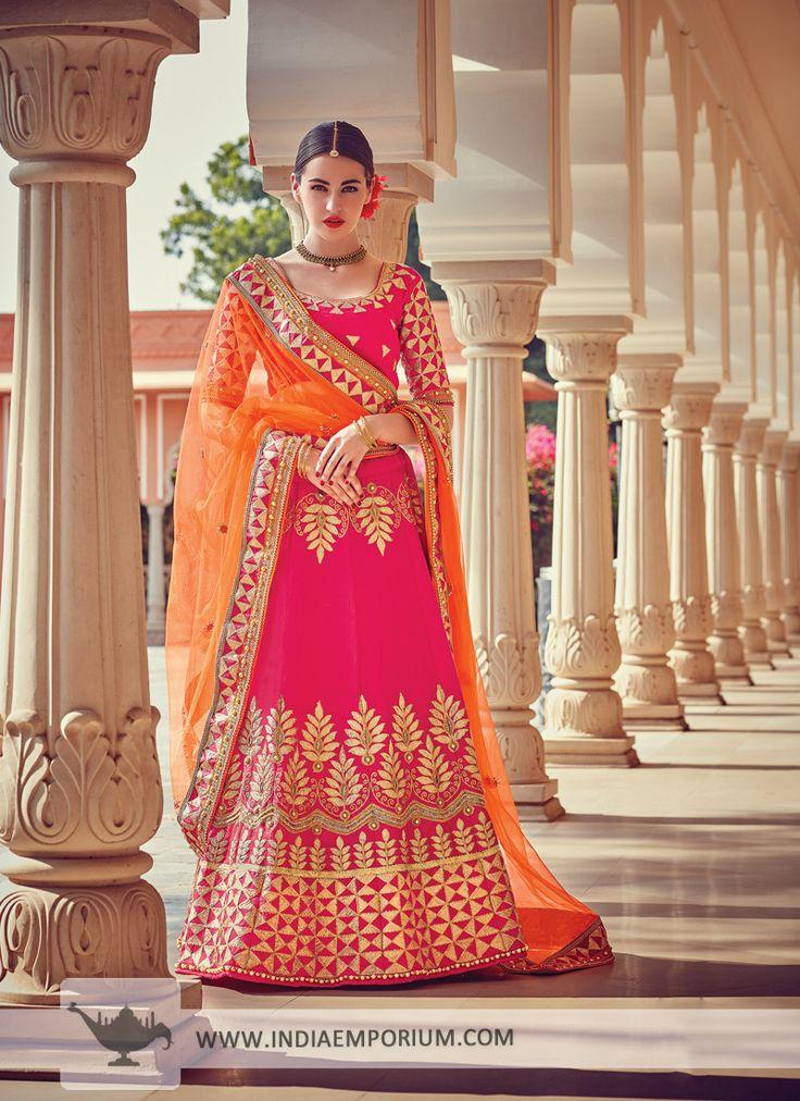 Ravishing Art Silk Pink Lehenga Choli