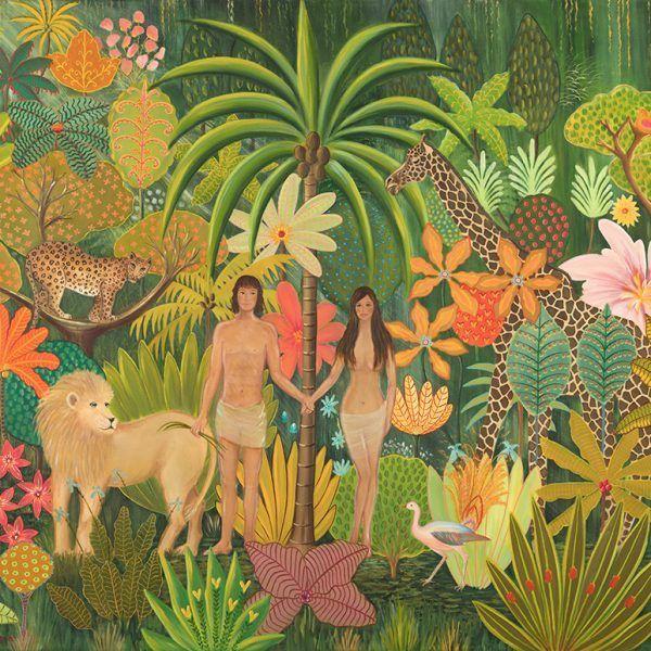 Adam Und Eva Im Garten Eden Daphne Stephenson Dibujos Naif Adam Daphne Dibujos Eden Eva Garten Naif Ste Adam And Eve Garden Of Eden Garden Of Eve