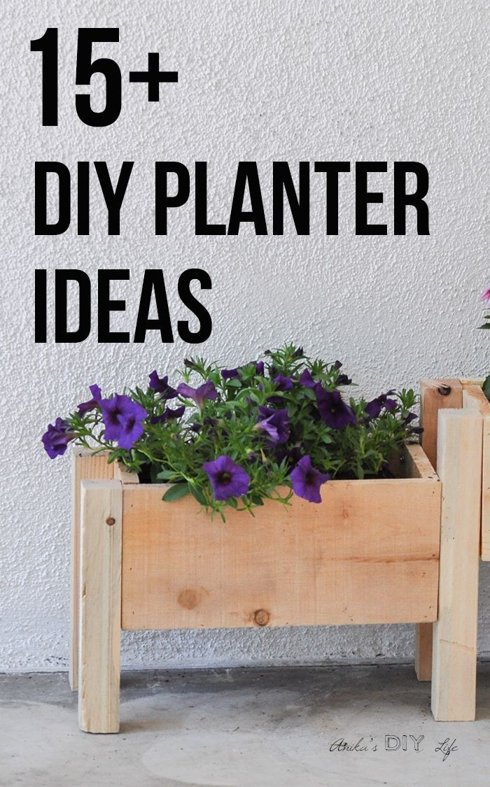 15 Amazing DIY wooden planter box ideas