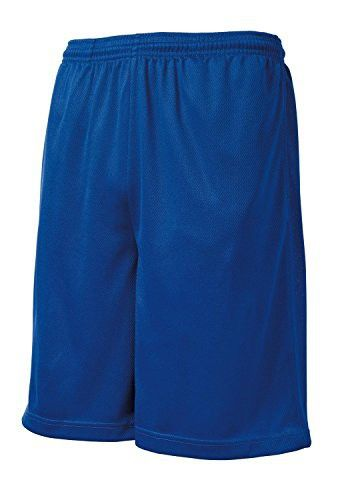 Clothe Co. Men's Moisture-Wicking Long Mesh Shorts With Pockets , True Royal, 2XL