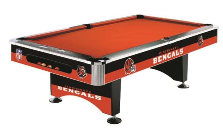 Cincinnati Bengals 8' Pool Table