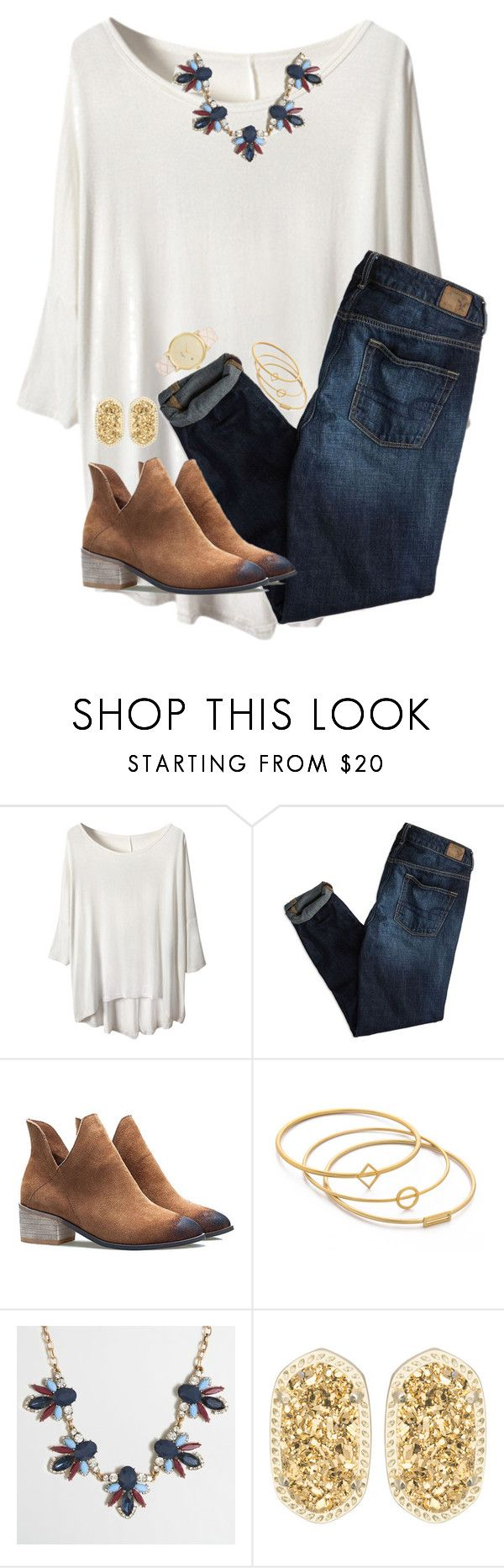 """""""Stressed but well dressed"""" by skmorris18 ❤ liked on Polyvore featuring American Eagle Outfitters, Madewell, J.Crew, Kendra Scott and Kate Spade"""