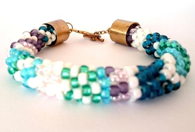 Bracelet, beads, rope, stitch, colors, boho, bransoletka, koraliki, szkło, kolorowe,