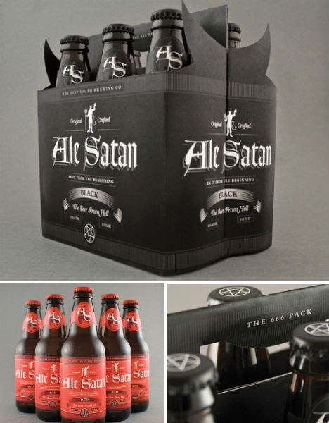 Ale Satan Beer pack design