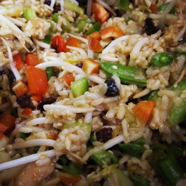 Sri Wasano's Infamous Indonesian Rice Salad (from the original Moosewood cookbook)  ****  I've made this many times - usually for parties.  I could eat this every day!  Soo good!