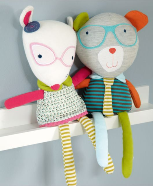 mamas&papas geek chic with specs lovely cute little plushie nerd toy cat and bear love the modern scandi style colours and stripes