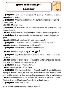Quel cafouillage ! de Gianni Rodari- texte à jouer Que de souvenirs avec notre version des 3 petits cochons à l'école P-A-S