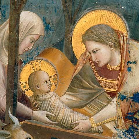 Giotto di Bondone - Birth of Christ