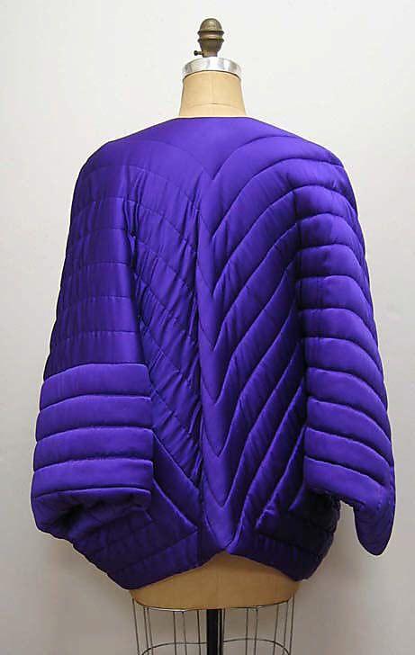 Evening jacket Halston (American, Des Moines, Iowa 1932–1990 San Francisco, California) Designer: Charles James (American, born Great Britain, 1906–1978) Date: 1970 Culture: American Medium: silk. Back