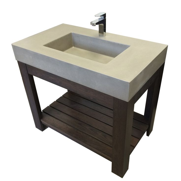 Image Gallery For Website Lavare Novo Concrete Vanity Bathroom Sink White Linen No Hole transitional bathroom sinks