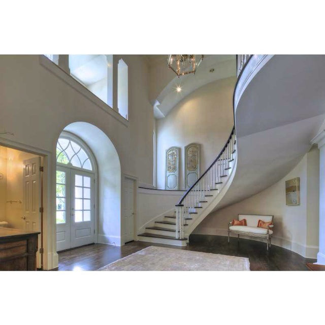 Foyer Into Great Room : Pretty foyer curved staircase for the home pinterest