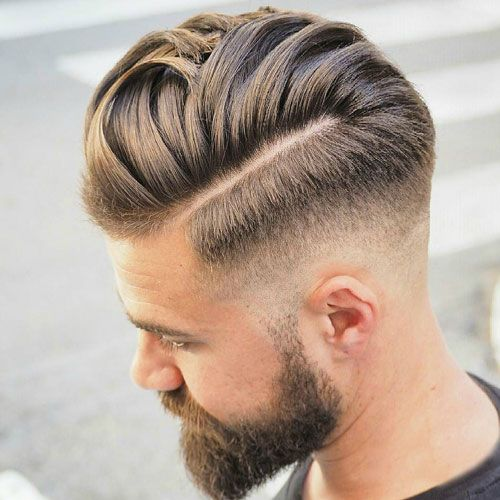 Nice Hairstyles - Low Fade with Hard Part and Comb Over