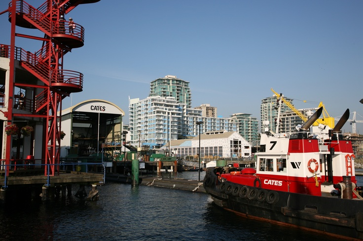 View from the waterfront looking north at Lonsdale Quay Market