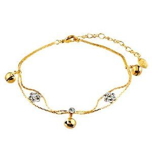 Pugster Golden Bell Flower Ankle Bracelet Anklet Swarovski Crystal Lobster Clasp Pugster. $16.79. Money-back Satisfaction Guarantee. The perfect accessory for evening or day wear. 9 Inch to 10 inch Length Adjustable Anklet. Made with Swarovski Elements. Free Gift Box