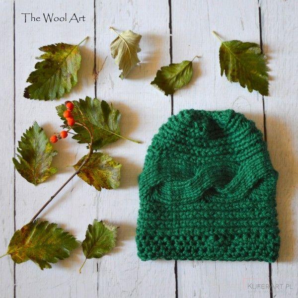 Zielona czapka - Czapki, berety - Ubrania
