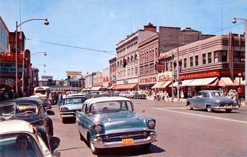 Schenectady New York | State Street in Schenectady, New York 1957 Dodge Custom Royal