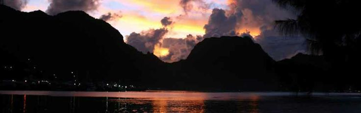 Sunrise over Pago Pago harbor