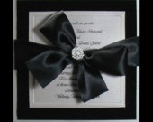 Boxed Couture Wedding Invitations -  Black Tie Wedding -  Black and Silver  - Formal Wedding  - Velvet  -  Invitation  - Set of 100