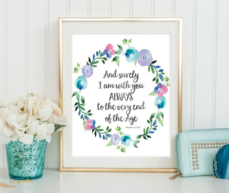 Scripture Quote Print - Bible Verse Art - Dorm Decor - Inspirational Quote - Bible Verse Print - Religious Quote - Digital Download by SmudgeCreativeDesign on Etsy