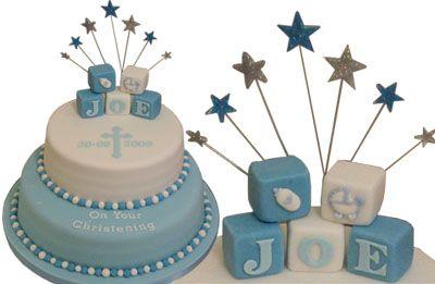 Baby+Boy+Christening+Decorations | Christening / Baptism Cake - The Sugar Rose Cake Company