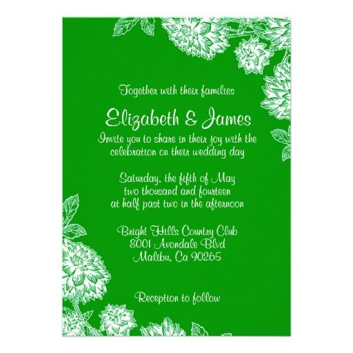 31 best Blue And Green Wedding Invitations images on Pinterest
