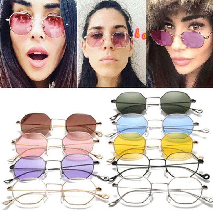 US-DEALS Fashion Women Hexagon Square Sunglasses Mirrored Metal Frame Men Clear Glasses: $1.85 End Date: Sunday Mar-25-2018…%#USDeals%