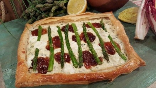 James Tanner's goats cheese and asparagus tart