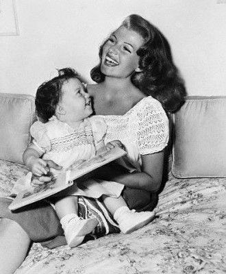 Rita Hayworth and her daughter Rebecca Welles: