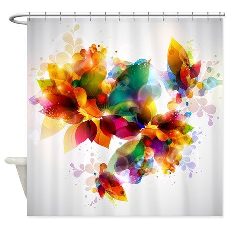 Colorful Floral Shower Curtain on CafePress.com
