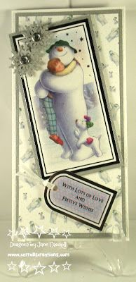 Carroll's Creations: The Snowman & The Snowdog/ Father Christmas from #crafterscompanion