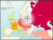 History of Europe between 1918 and 1942: animated historical maps, Treaty of Versailles