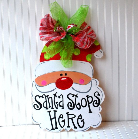 Hey, I found this really awesome Etsy listing at http://www.etsy.com/listing/169910641/santa-door-hanger-christmas-decor-santa