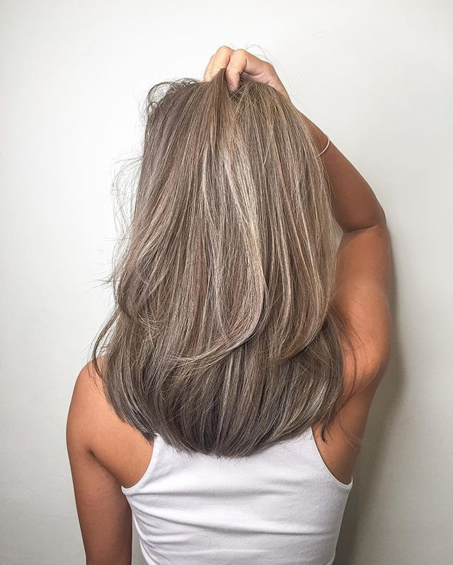 Chocolate ash blonde add babylights********** CLEO hair international  call here…