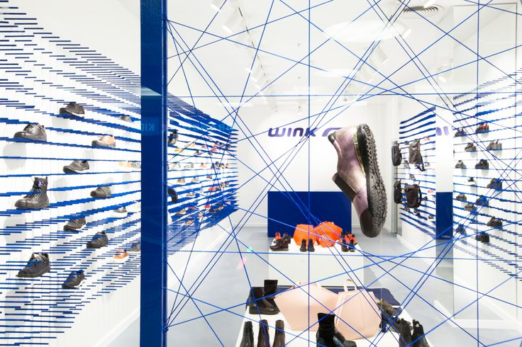 WINK Store at Mammut, Budapest, Hungary. Designed by Indelab