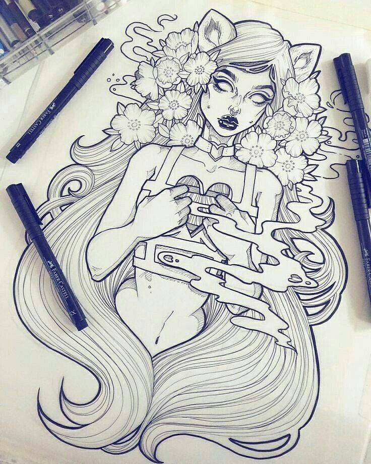 Line Art Instagram : Gwen d arcy drawing ideas pinterest zeichnungen